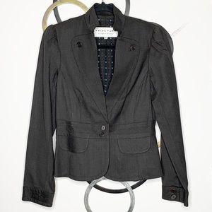 Vintage Trina Turk Buttoned Lapel Wool Blazer